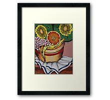 Fruit bowl interpretation Framed Print