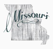 Missouri State Typography Kids Tee