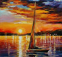 SAIL IN SUNSET - LEONID AFREMOV by Leonid  Afremov