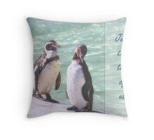 Penguin delight Throw Pillow
