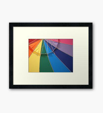 UNDER THE UMBRELLA Framed Print