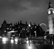 Big Ben and The London Eye • London, UK by Justin Cruse