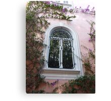 Window On Cap Ferrat Canvas Print