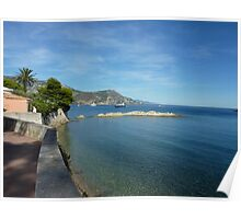 View from Cap Ferrat Poster