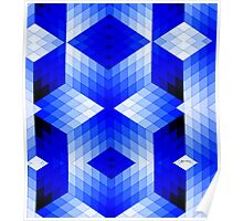 Geometric in Blue Poster
