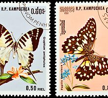Collection of butterflies stamps. by FER737NG