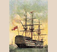 "A digital painting of  The ""Victory"" (Nelson's Flagship) Portsmouth, Hampshire, England 19th century T-Shirt"