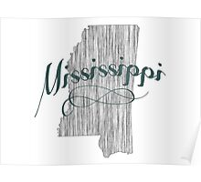 Mississippi State Typography Poster