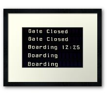 Airport information board. Framed Print