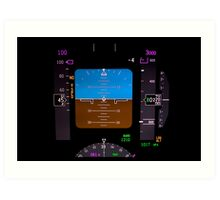 Technology: airplane instrument panel. Art Print