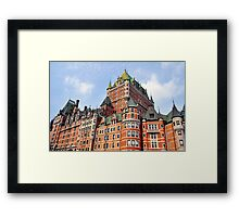 Chateau Frontenac. Framed Print