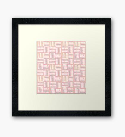 Peach Lines Framed Print