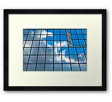 Glass office building. Framed Print