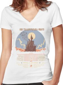 See Castlevania First! Women's Fitted V-Neck T-Shirt