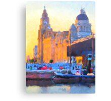 Port of Liverpool, England Canvas Print