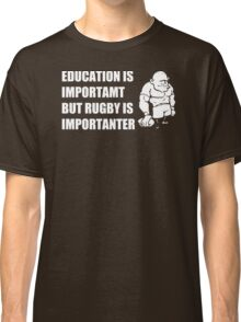 Rugby Is Importanter Mens Funny T-Shirt Classic T-Shirt