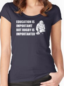 Rugby Is Importanter Mens Funny T-Shirt Women's Fitted Scoop T-Shirt