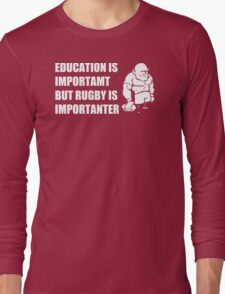 Rugby Is Importanter Mens Funny T-Shirt Long Sleeve T-Shirt