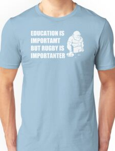Rugby Is Importanter Mens Funny T-Shirt Unisex T-Shirt