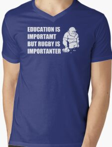 Rugby Is Importanter Mens Funny T-Shirt Mens V-Neck T-Shirt