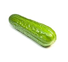 Green cucumber. Photographic Print