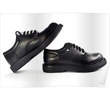 Black men's leather shoes. Poster