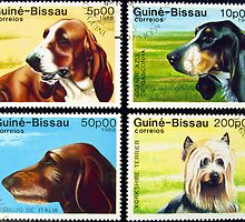 Collection of dog stamps. by FER737NG