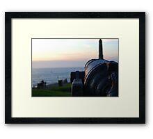 Cannon at Aberystwyth Castle Framed Print