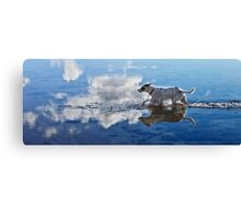 Zelda Running Through The Ocean Clouds Canvas Print