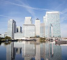 Canary Wharf Skyline by bikeworldtravel