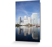 Canary Wharf Skyline Greeting Card