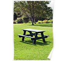 Picnic table. Poster