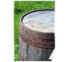 Old rusty barrel. Poster