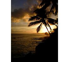 Beach Sundown  Photographic Print
