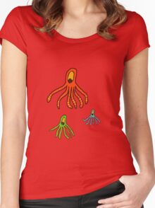 Octopus for kids tee Women's Fitted Scoop T-Shirt