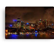 Sydney City CBD Australia HDR Canvas Print