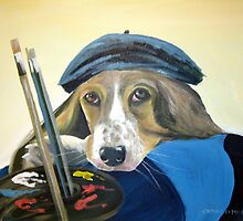 bassett hound artist by cathal  o malley
