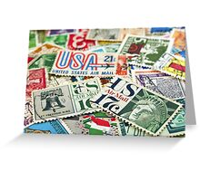 Vintage stamps. Greeting Card