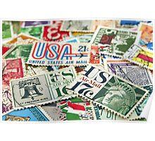 Vintage stamps. Poster