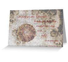 Courage for today Christmas Card Greeting Card