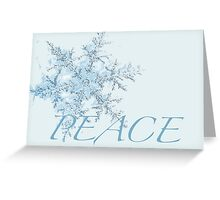 Blue Snow Flake Christmas Card Greeting Card