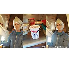 Sour Cream Cosplay Print - And He Looks At Me Photographic Print