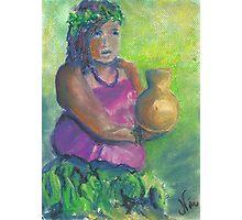 Hula Girl (pastel) Photographic Print