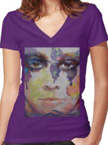 Pandora Women's Fitted V-Neck T-Shirt