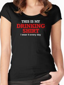 This Is My Drinking Shirt Funny NEW 100% Cotton Drunk Beer Keg T-Shirt Women's Fitted Scoop T-Shirt