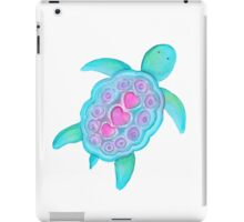 Whimsical turtle watercolor kids art iPad Case/Skin