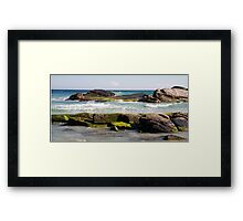 Redgate Beach Rocks with seaweed 2 Framed Print