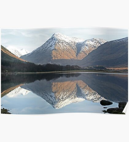 Reflections, Loch Etive, Scotland Poster