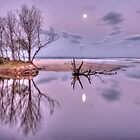 Reflecting on a moonrise by Peter Hocking