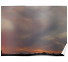 Dusty pastel sunset Poster